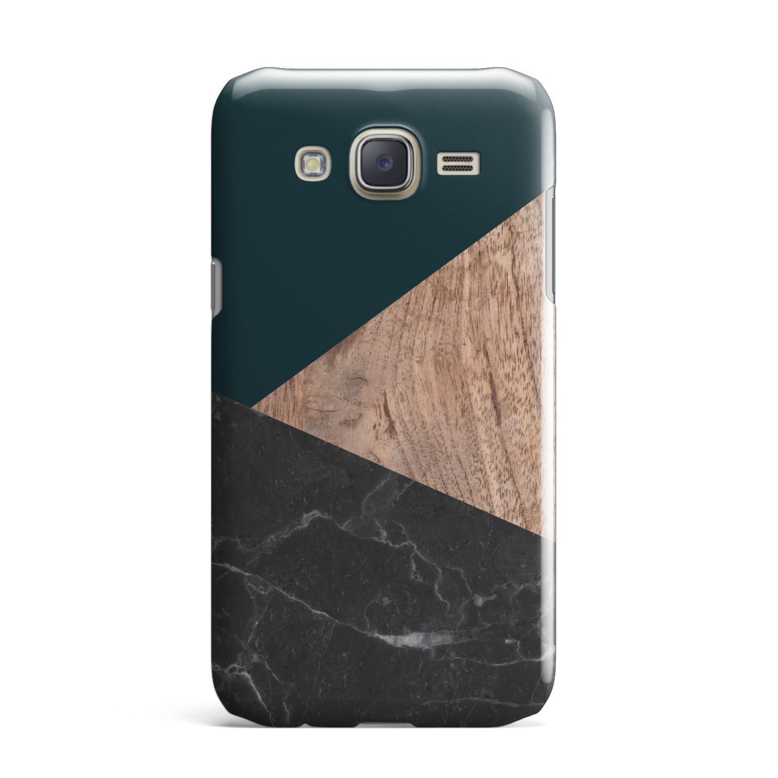 Marble Wood Geometric 6 Samsung Galaxy J7 Case