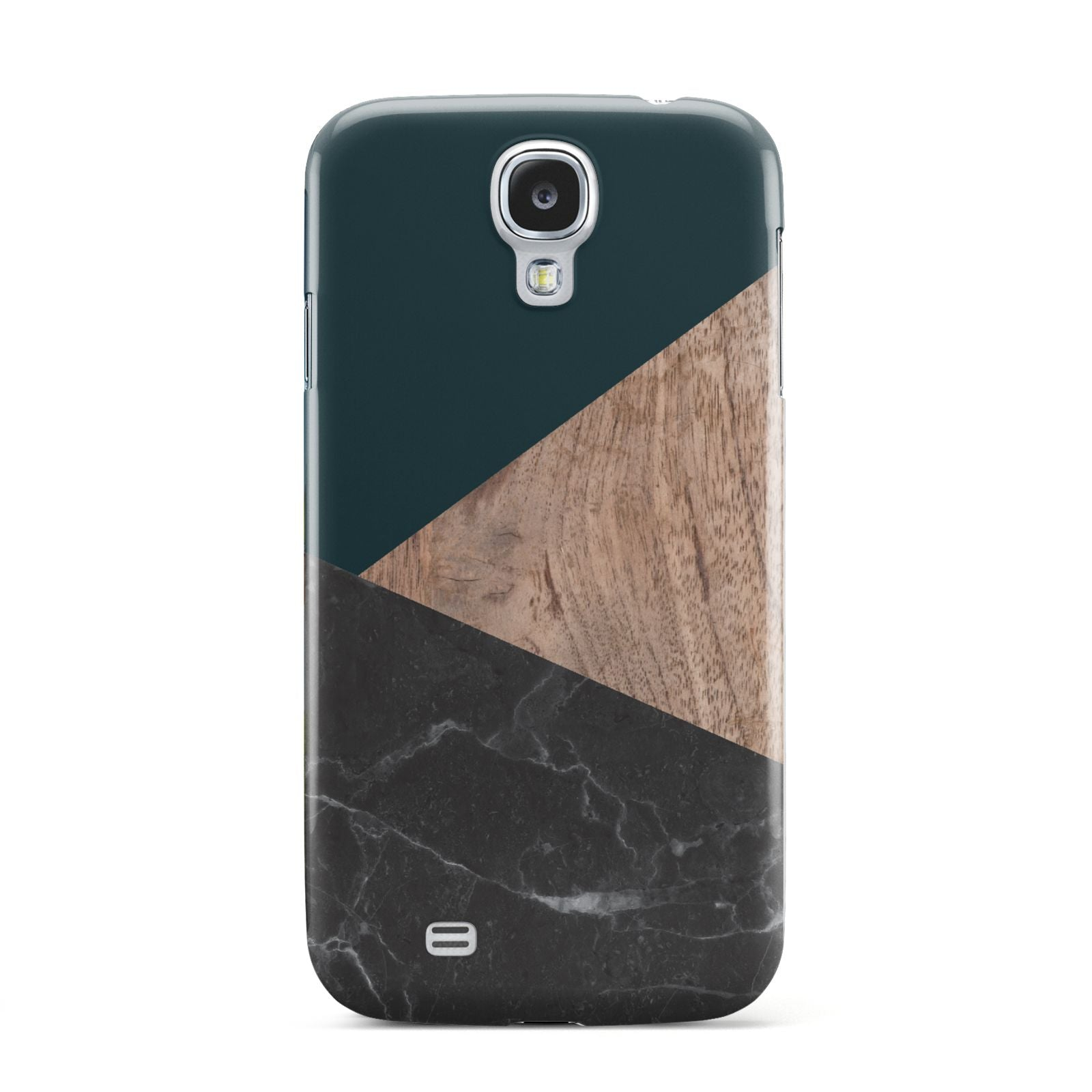 Marble Wood Geometric 6 Samsung Galaxy S4 Case