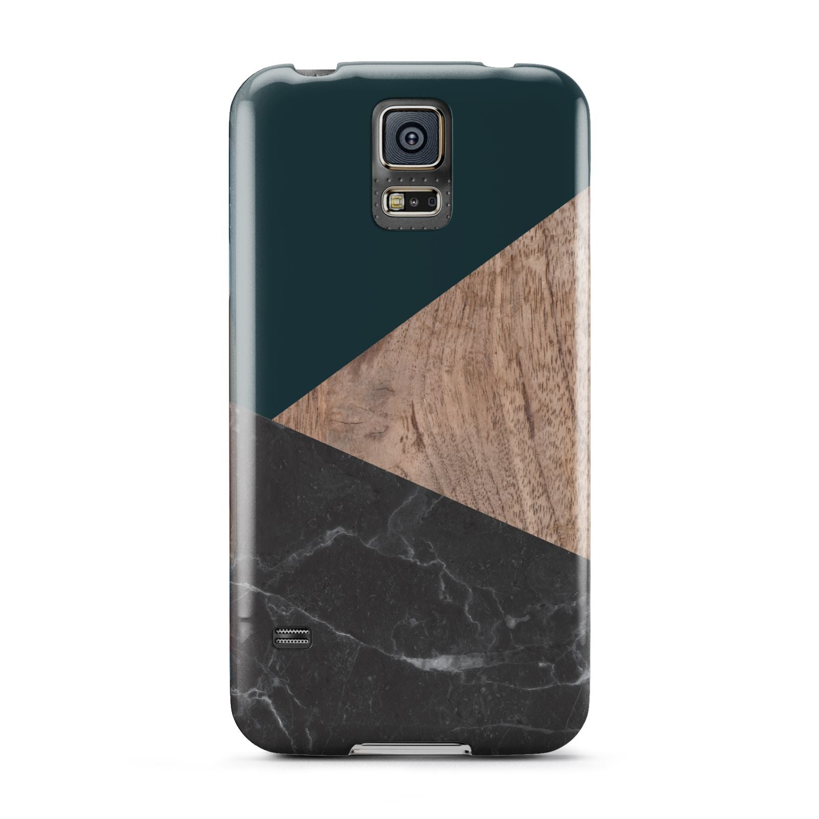 Marble Wood Geometric 6 Samsung Galaxy S5 Case