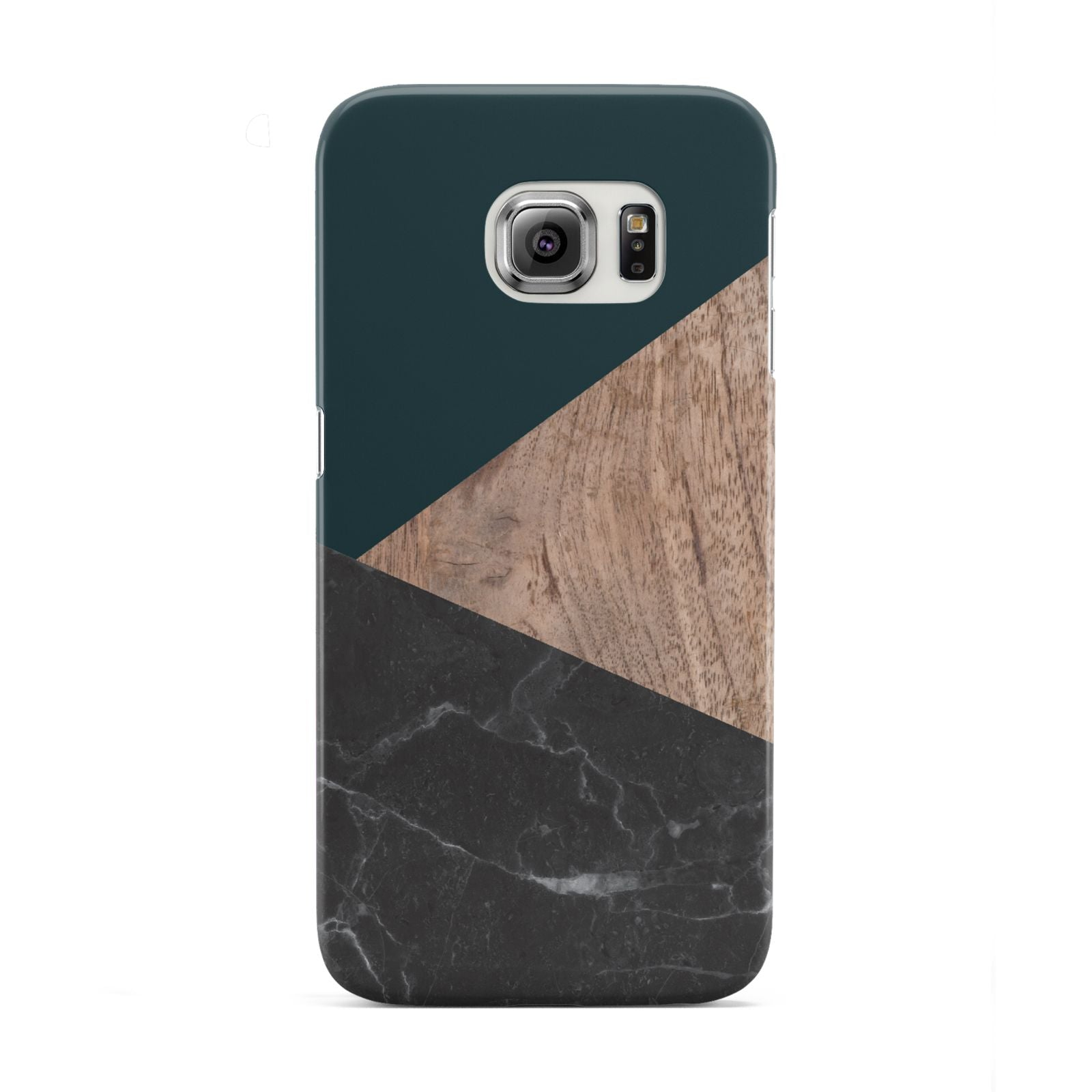 Marble Wood Geometric 6 Samsung Galaxy S6 Edge Case