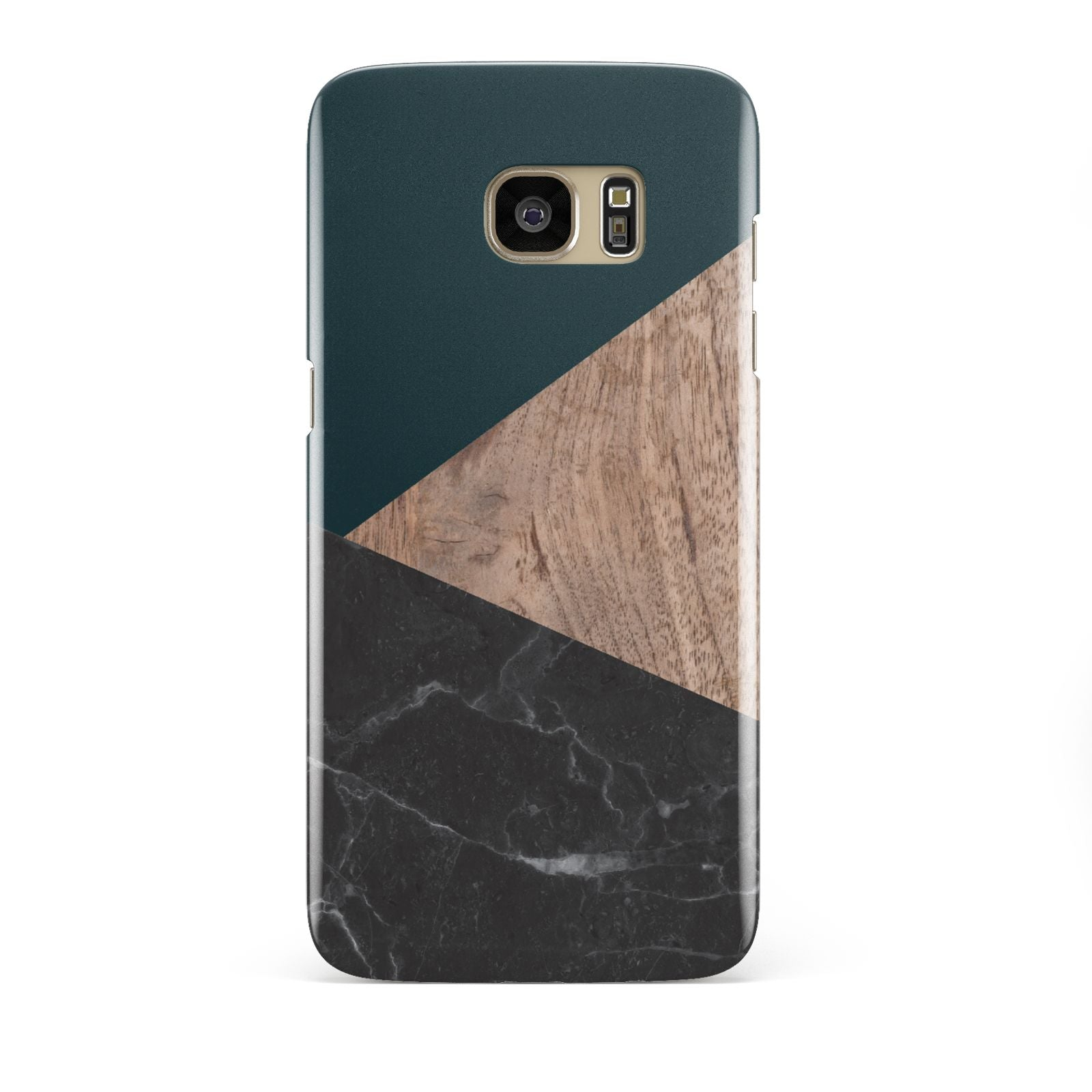 Marble Wood Geometric 6 Samsung Galaxy S7 Edge Case