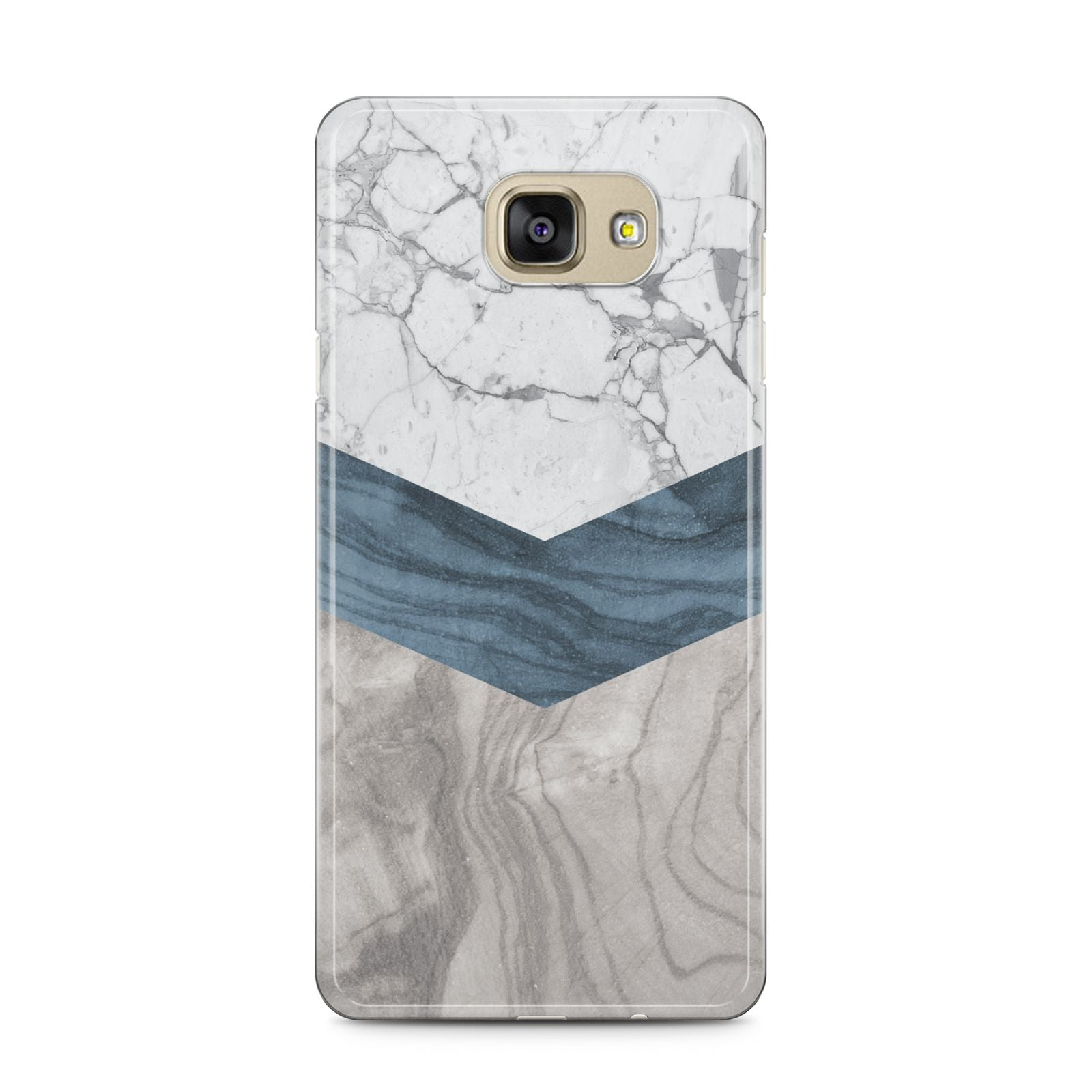 Marble Wood Geometric 8 Samsung Galaxy A5 2016 Case on gold phone