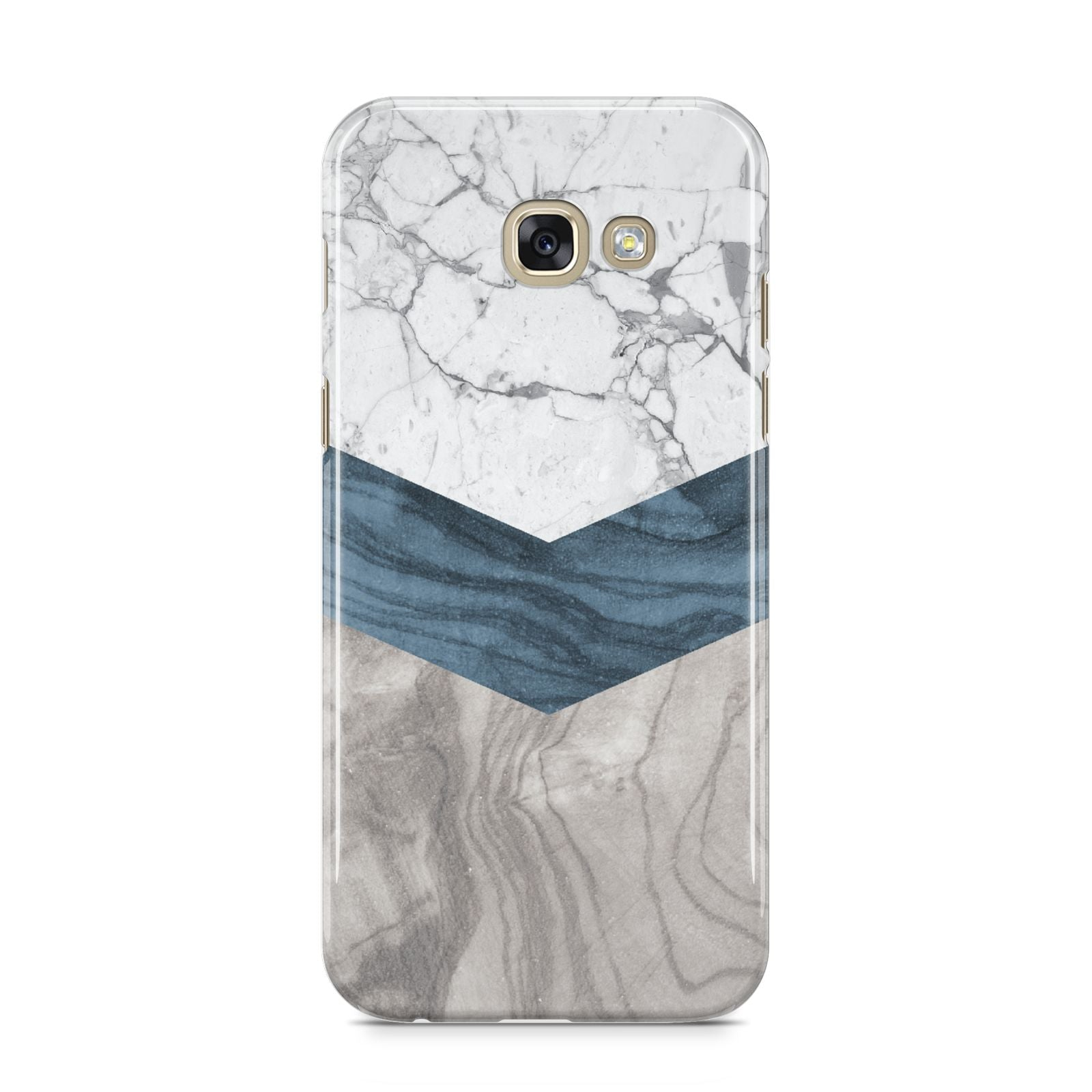 Marble Wood Geometric 8 Samsung Galaxy A5 2017 Case on gold phone