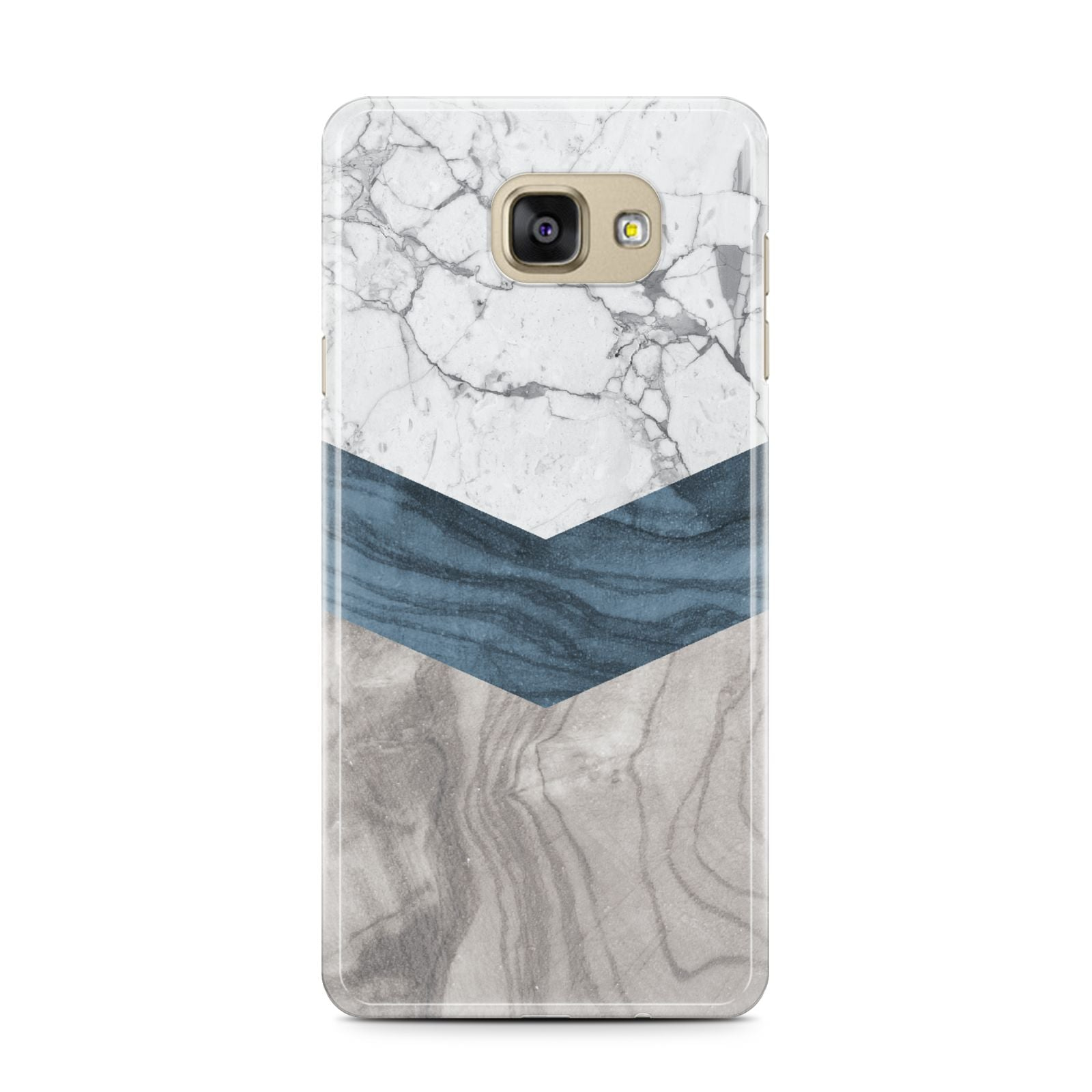 Marble Wood Geometric 8 Samsung Galaxy A7 2016 Case on gold phone