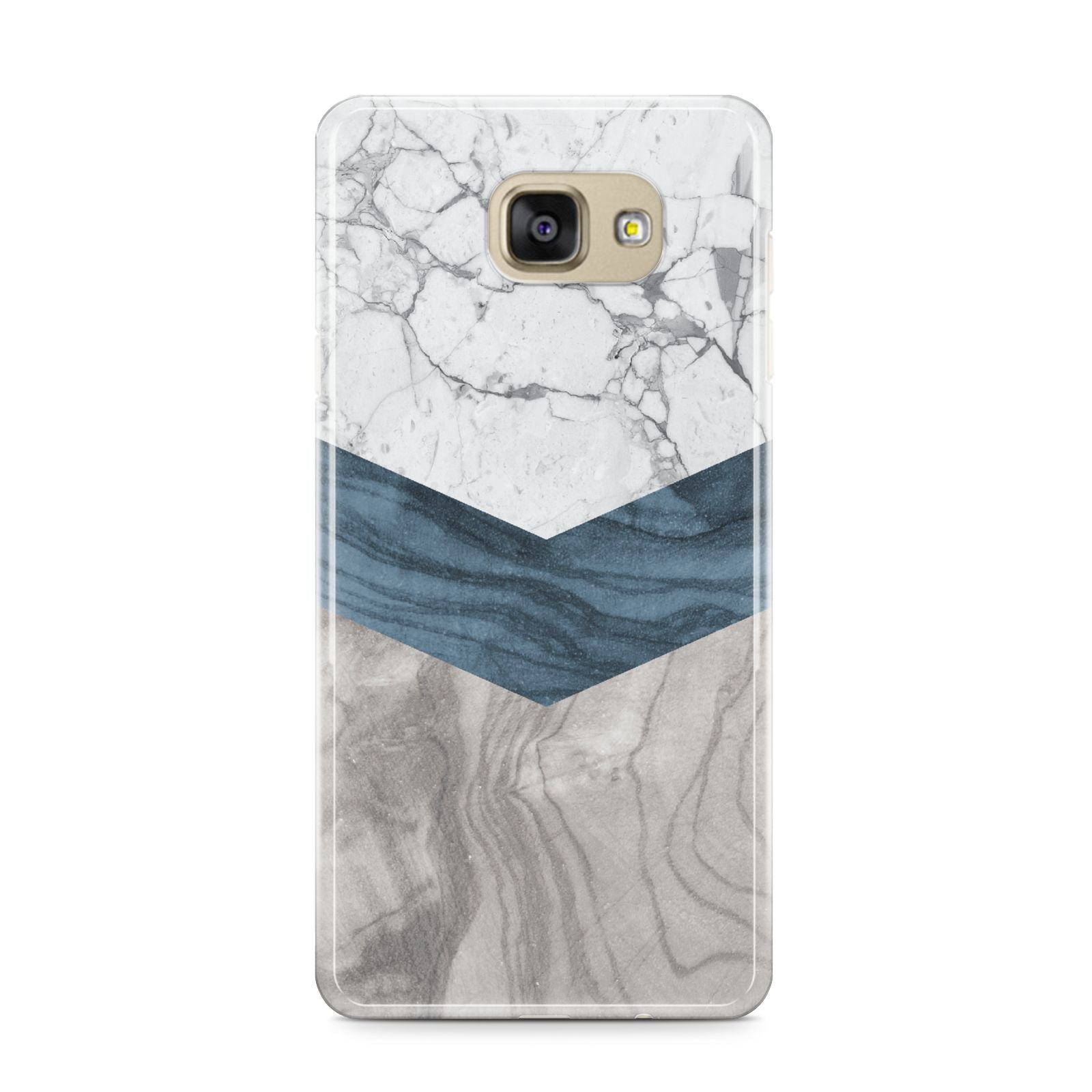 Marble Wood Geometric 8 Samsung Galaxy A9 2016 Case on gold phone
