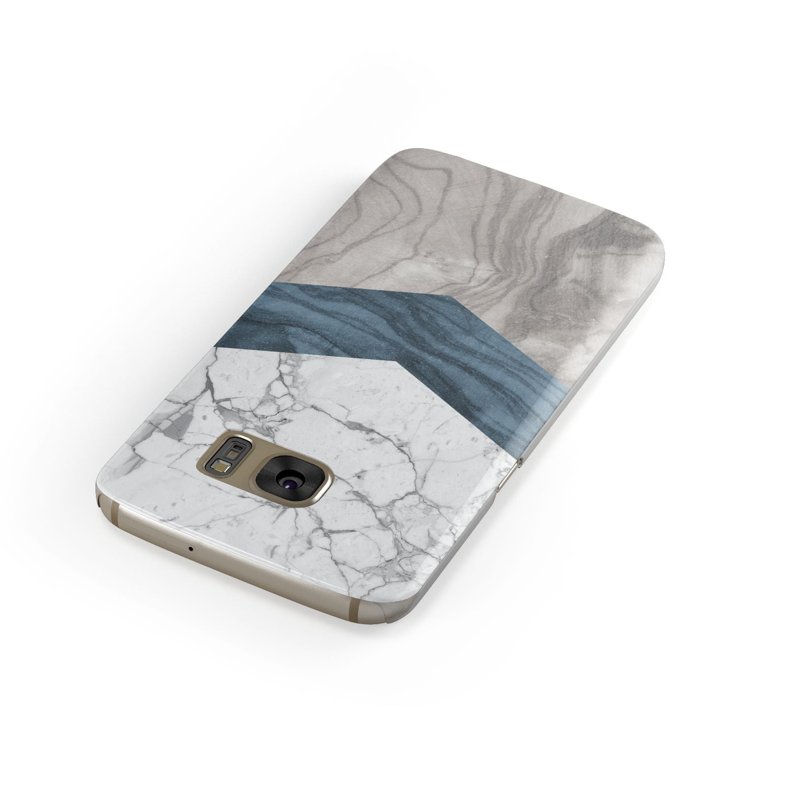 Marble Wood Geometric 8 Samsung Galaxy Case Front Close Up