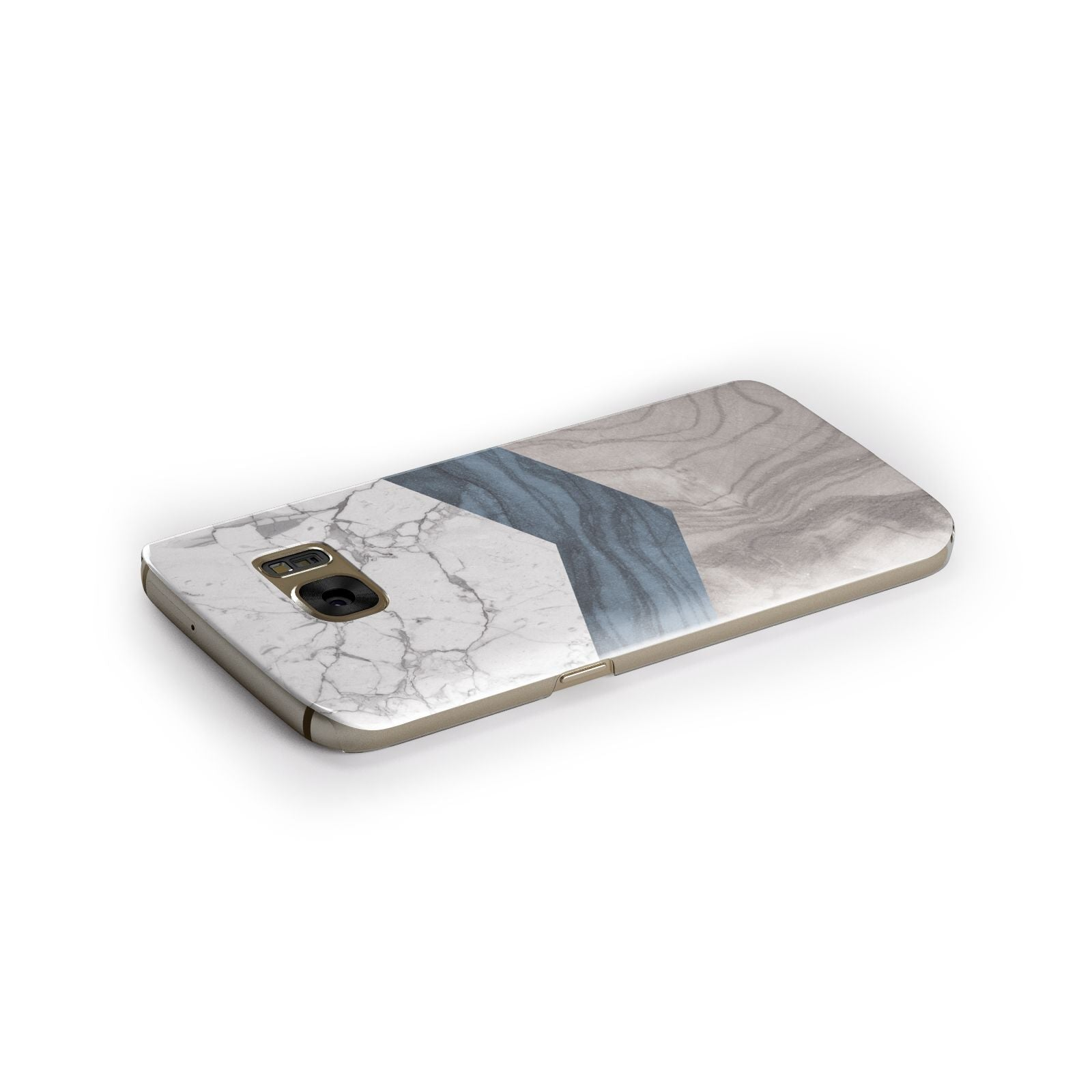 Marble Wood Geometric 8 Samsung Galaxy Case Side Close Up