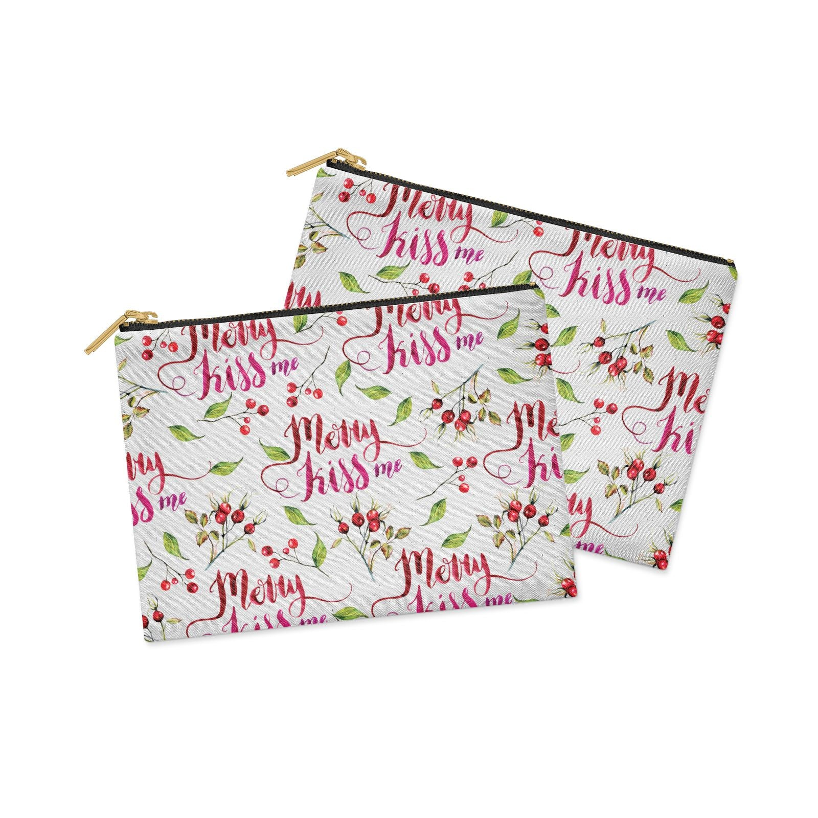 Merry kiss me Clutch Bag Zipper Pouch Alternative View