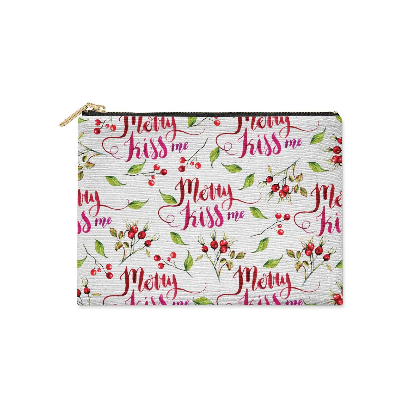 Merry kiss me Clutch Bag Zipper Pouch