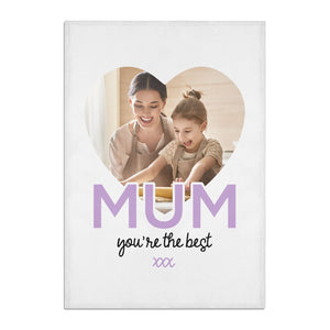 Mothers Day Heart Photo Cotton Tea Towel