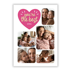 Mothers Day Multi Photo Strip A5 Flat Greetings Card