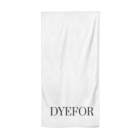 Name Personalised White Beach Towel