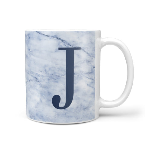 Navy Blue Single Initial Mug