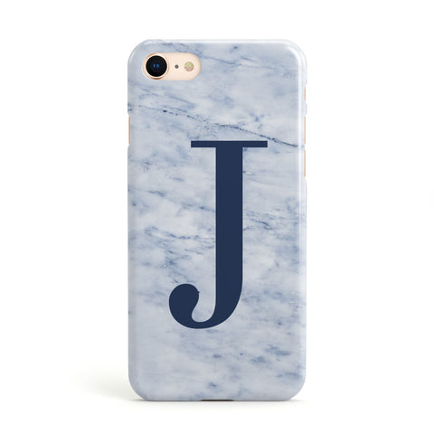 Navy Blue Single Initial Apple iPhone Case