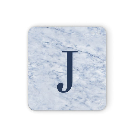 Navy Blue Single Initial Coasters set of 4