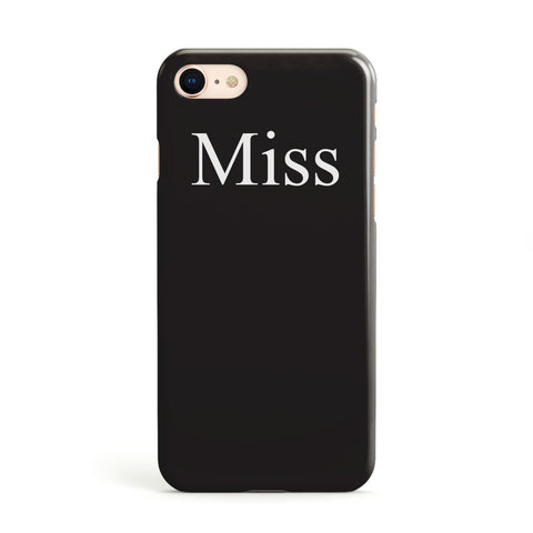 Non Personalised Miss Apple iPhone Case