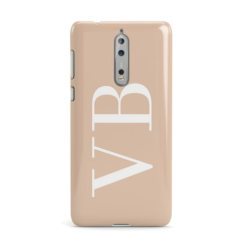 Nude And White Personalised Nokia Case
