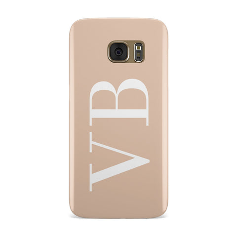 Nude And White Personalised Samsung Galaxy Case