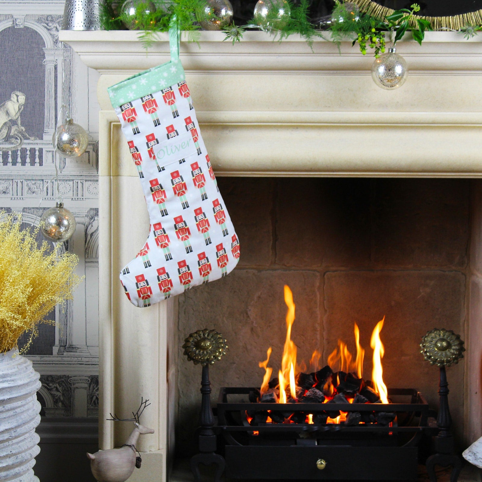 Personalised Nutcracker Christmas Stocking