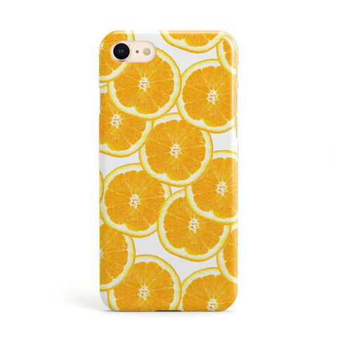 Orange Fruit Slices Apple iPhone Case