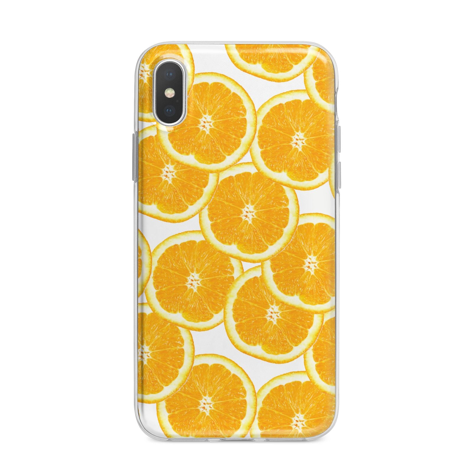 Orange Fruit Slices iPhone X Bumper Case on Silver iPhone Alternative Image 1