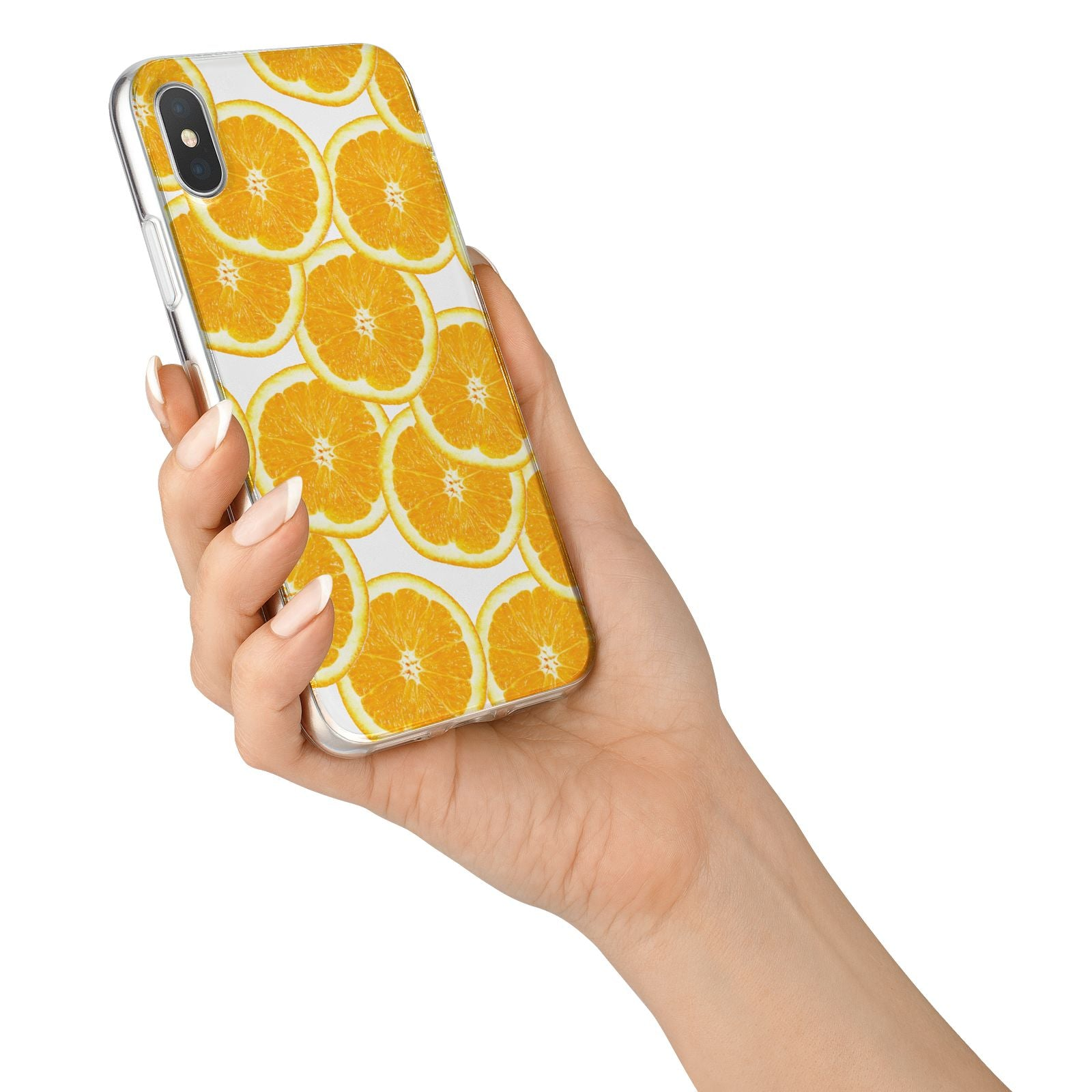 Orange Fruit Slices iPhone X Bumper Case on Silver iPhone Alternative Image 2