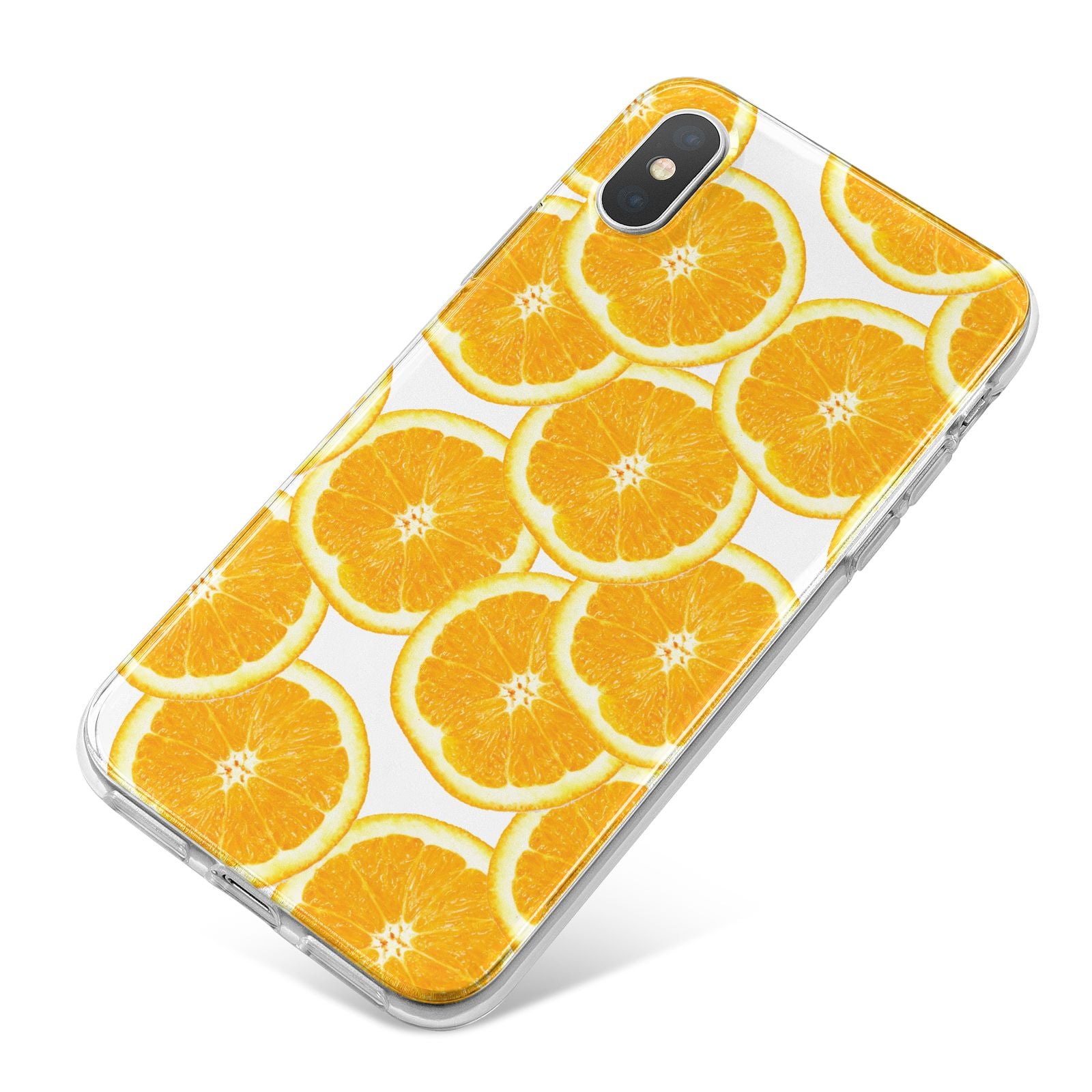 Orange Fruit Slices iPhone X Bumper Case on Silver iPhone