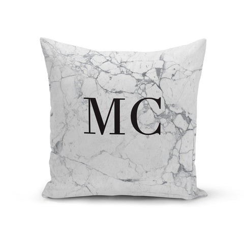 Personalised Marble Initials Cushion