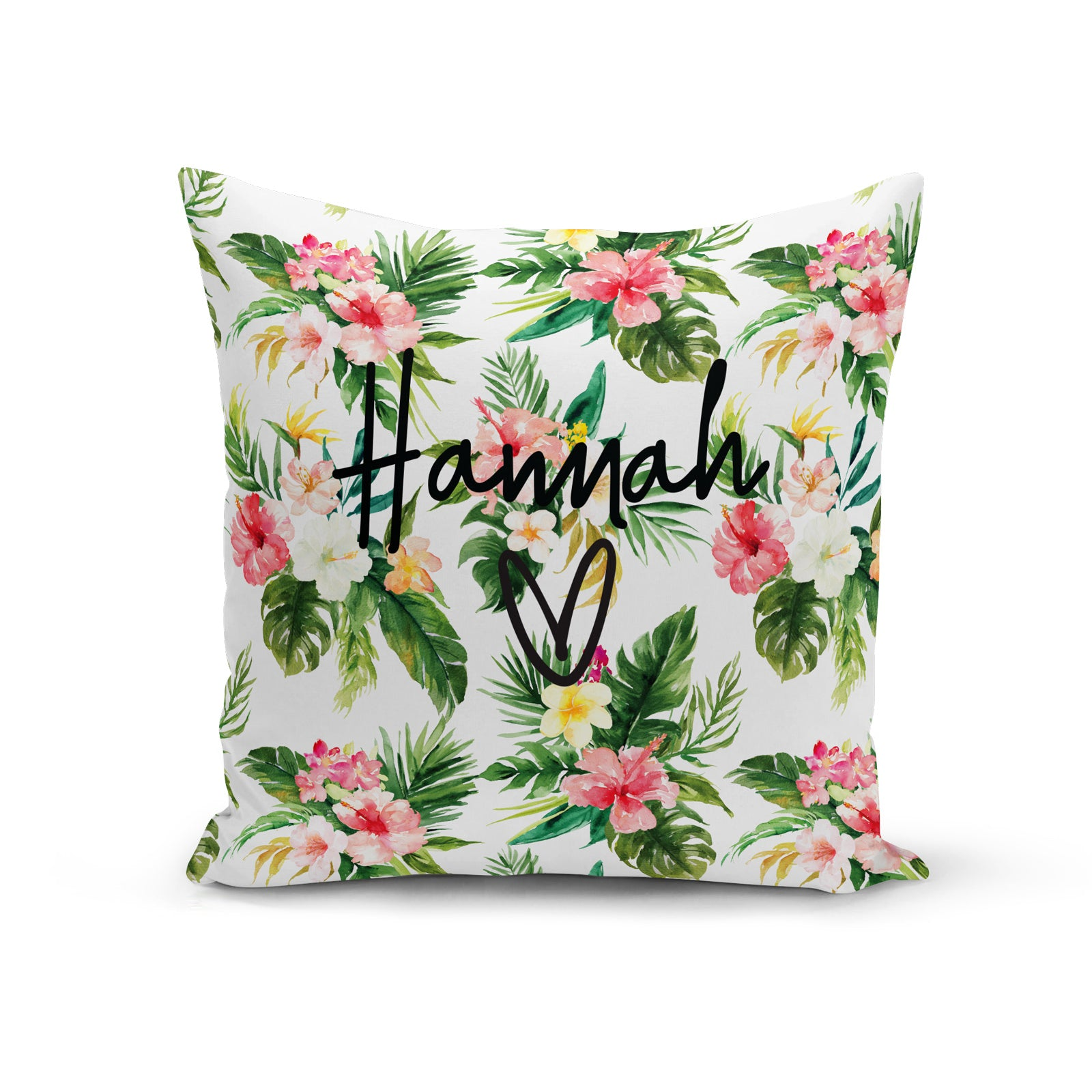 Personalised Floral Tropical Cushion