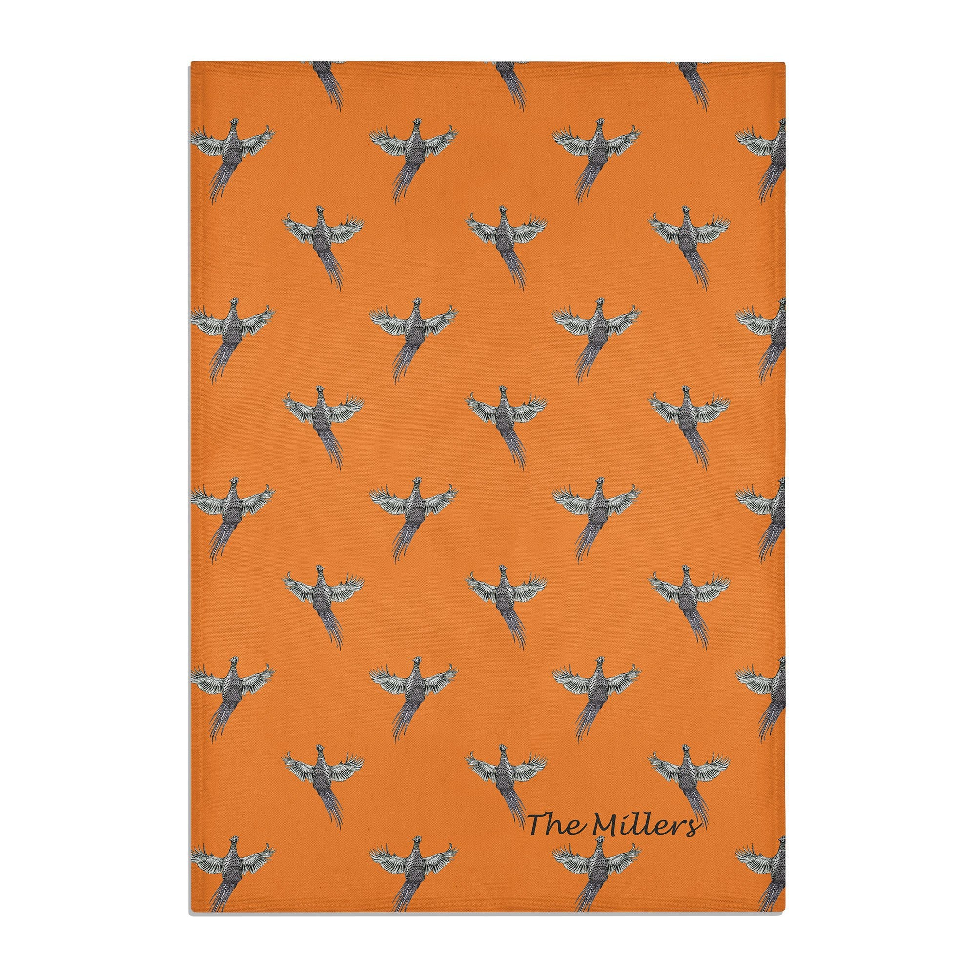 PHEASANT TEA TOWEL PERSONALISED