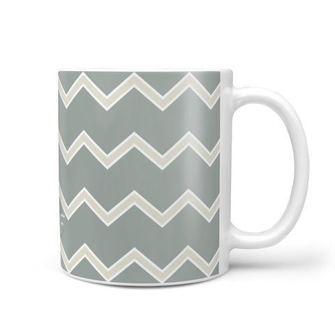Personalised 2 Tone Chevron Mug