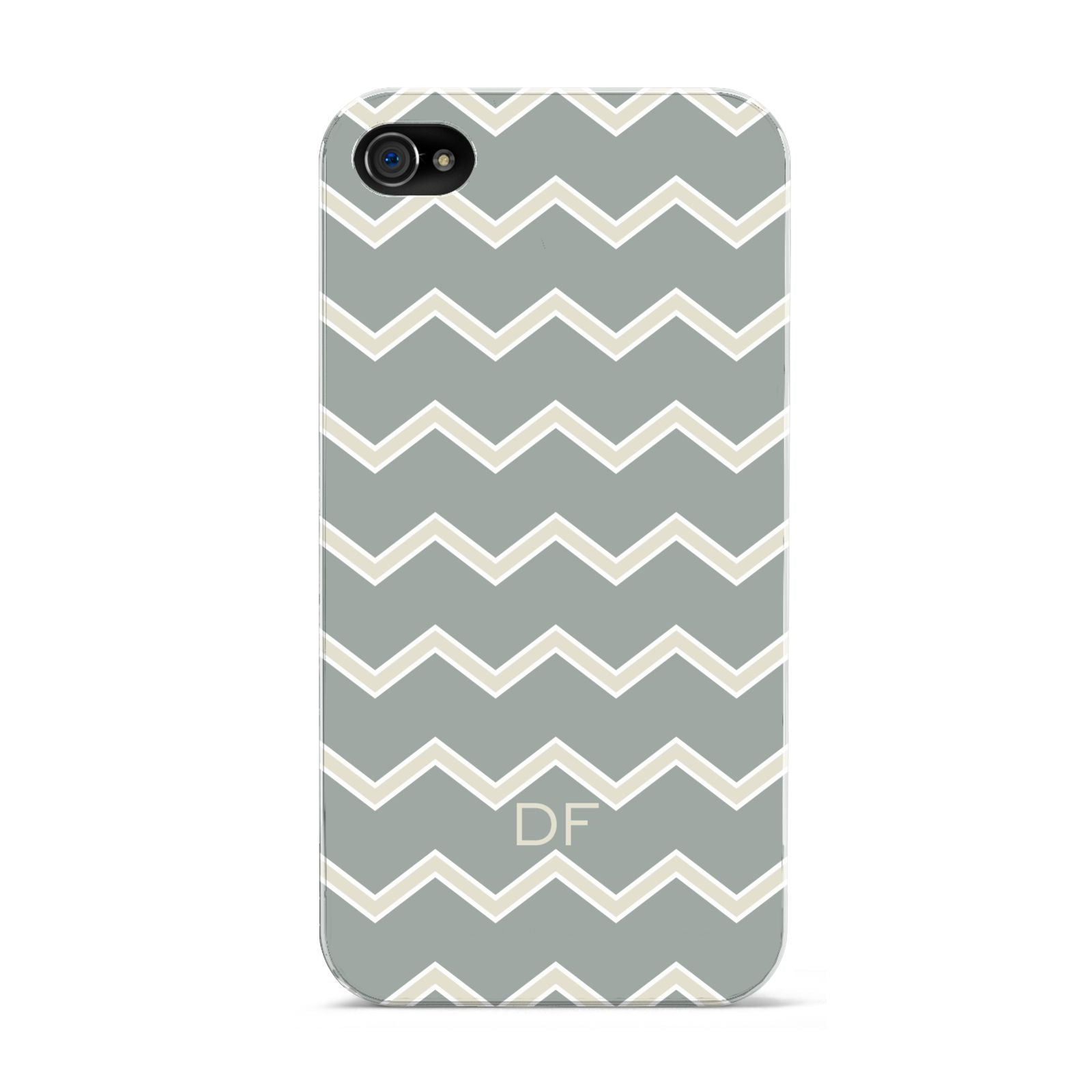 Personalised 2 Tone Chevron Apple iPhone 4s Case