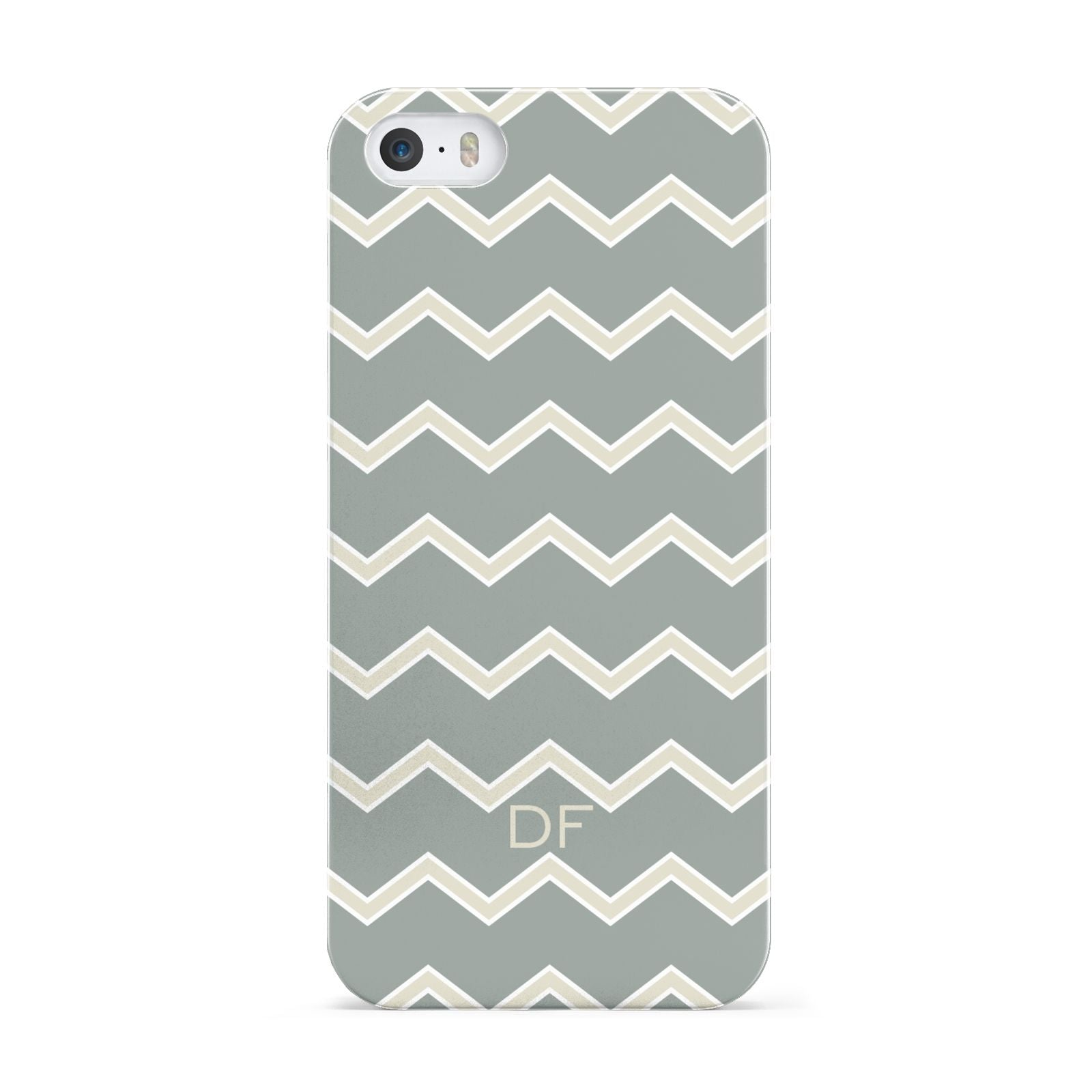 Personalised 2 Tone Chevron Apple iPhone 5 Case