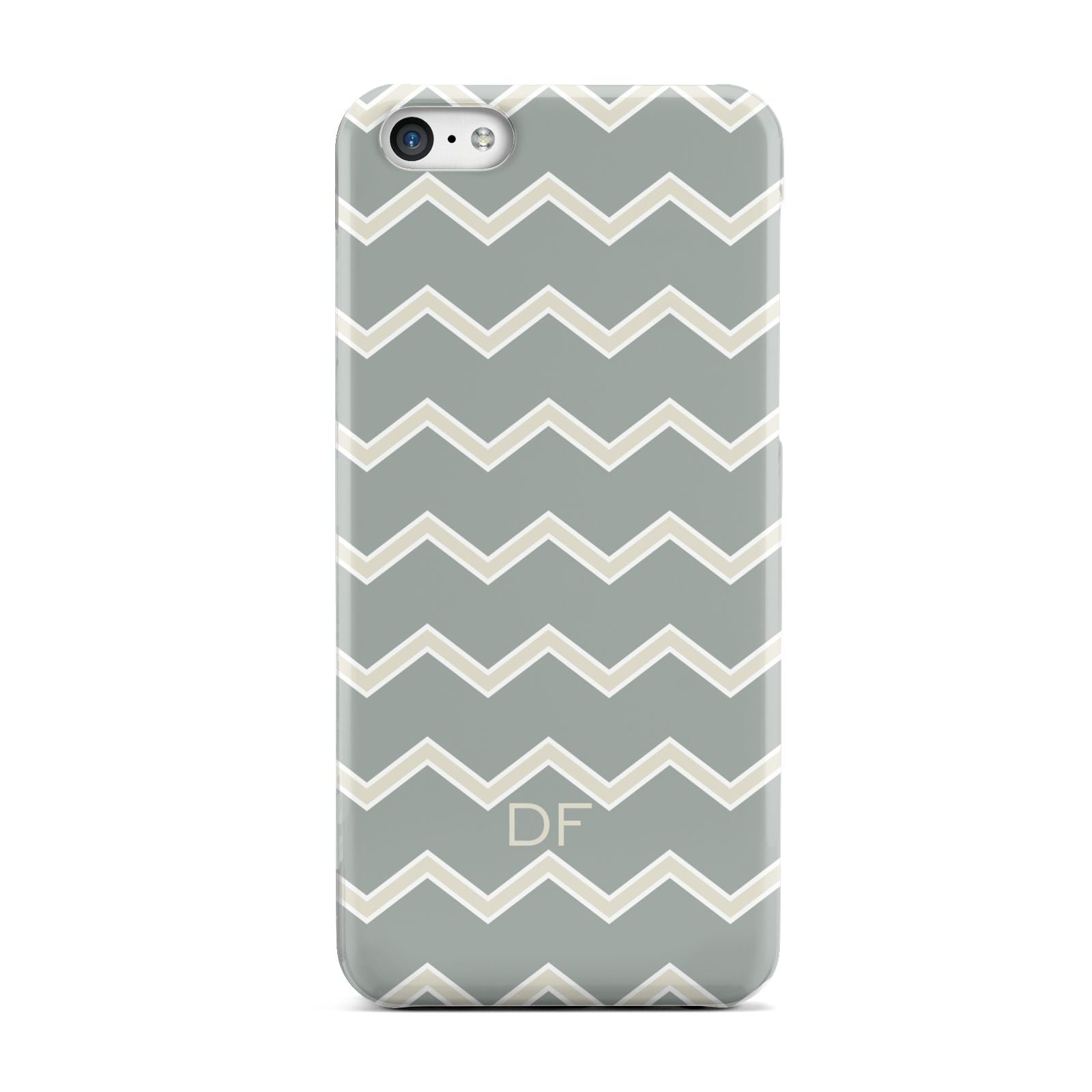 Personalised 2 Tone Chevron Apple iPhone 5c Case