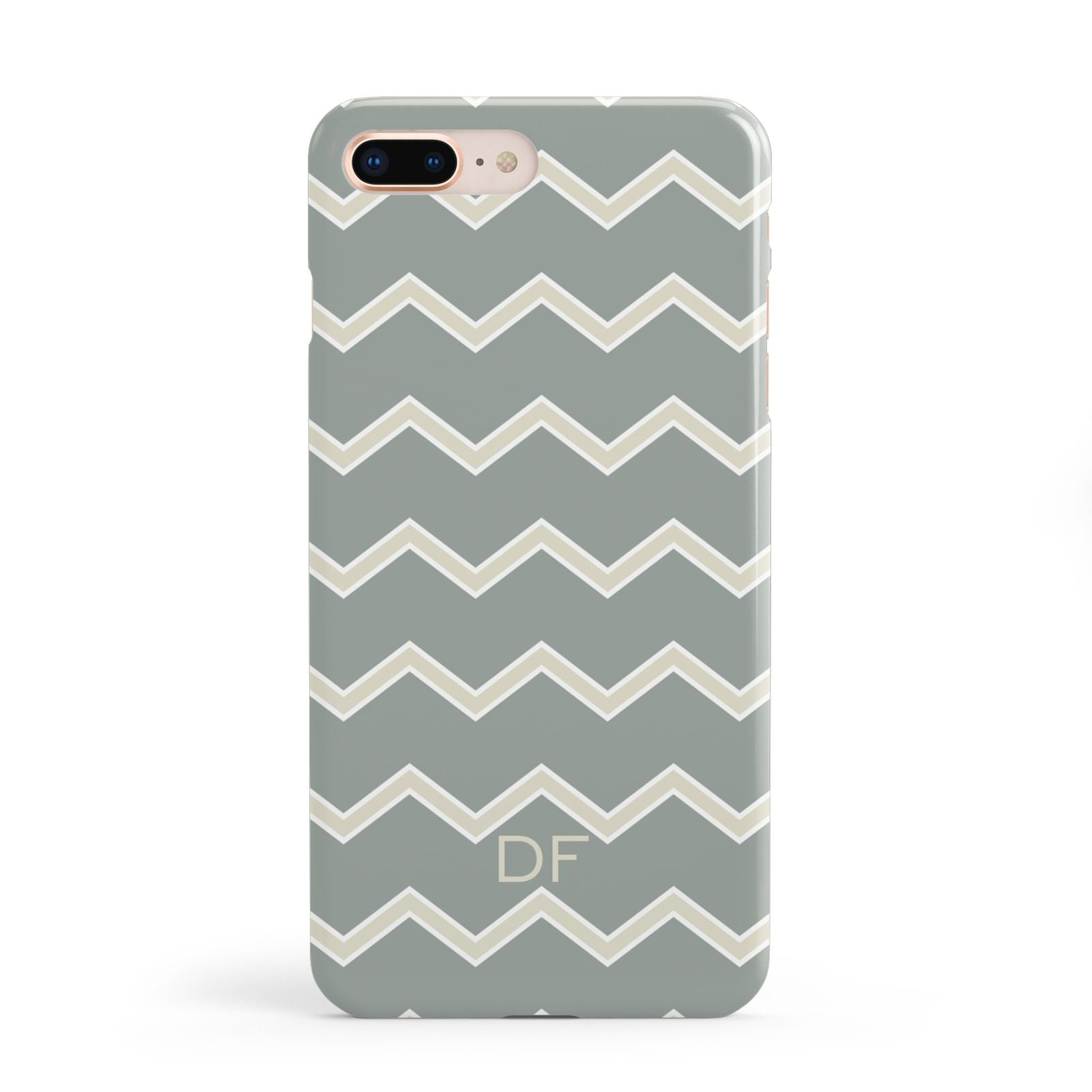 Personalised 2 Tone Chevron Apple iPhone 8 Plus Case