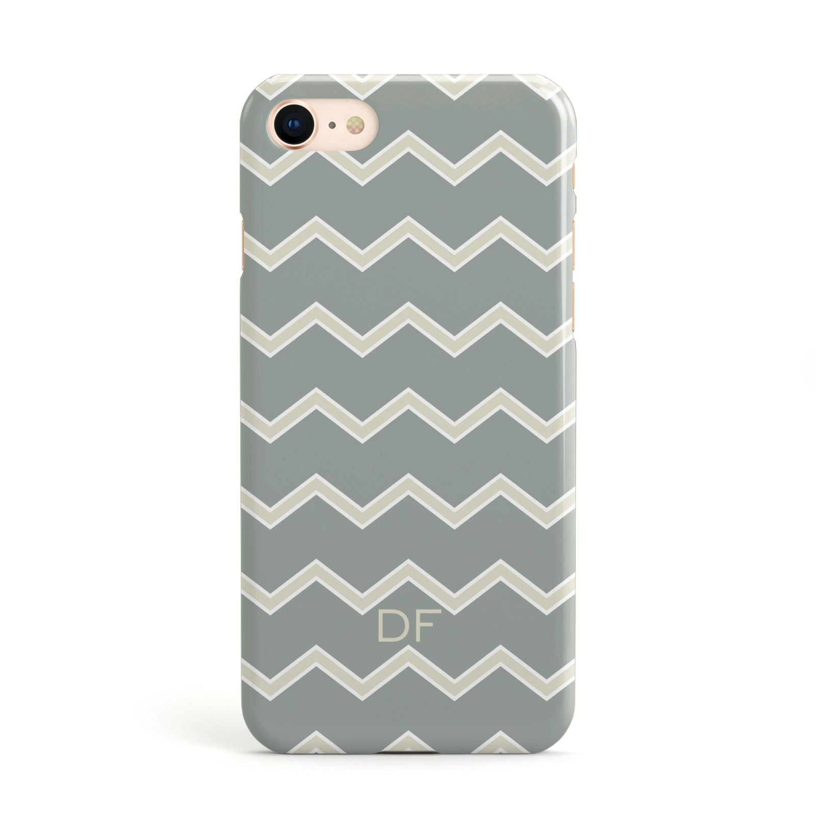 Personalised 2 Tone Chevron Apple iPhone Case