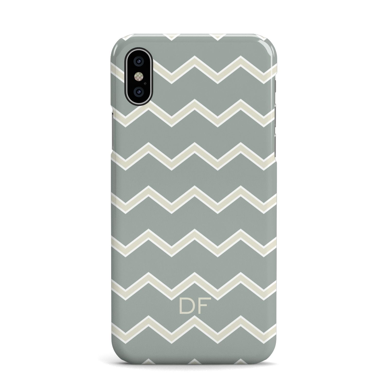Personalised 2 Tone Chevron Apple iPhone X Case