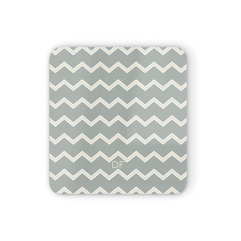 Personalised 2 Tone Chevron Coasters set of 4