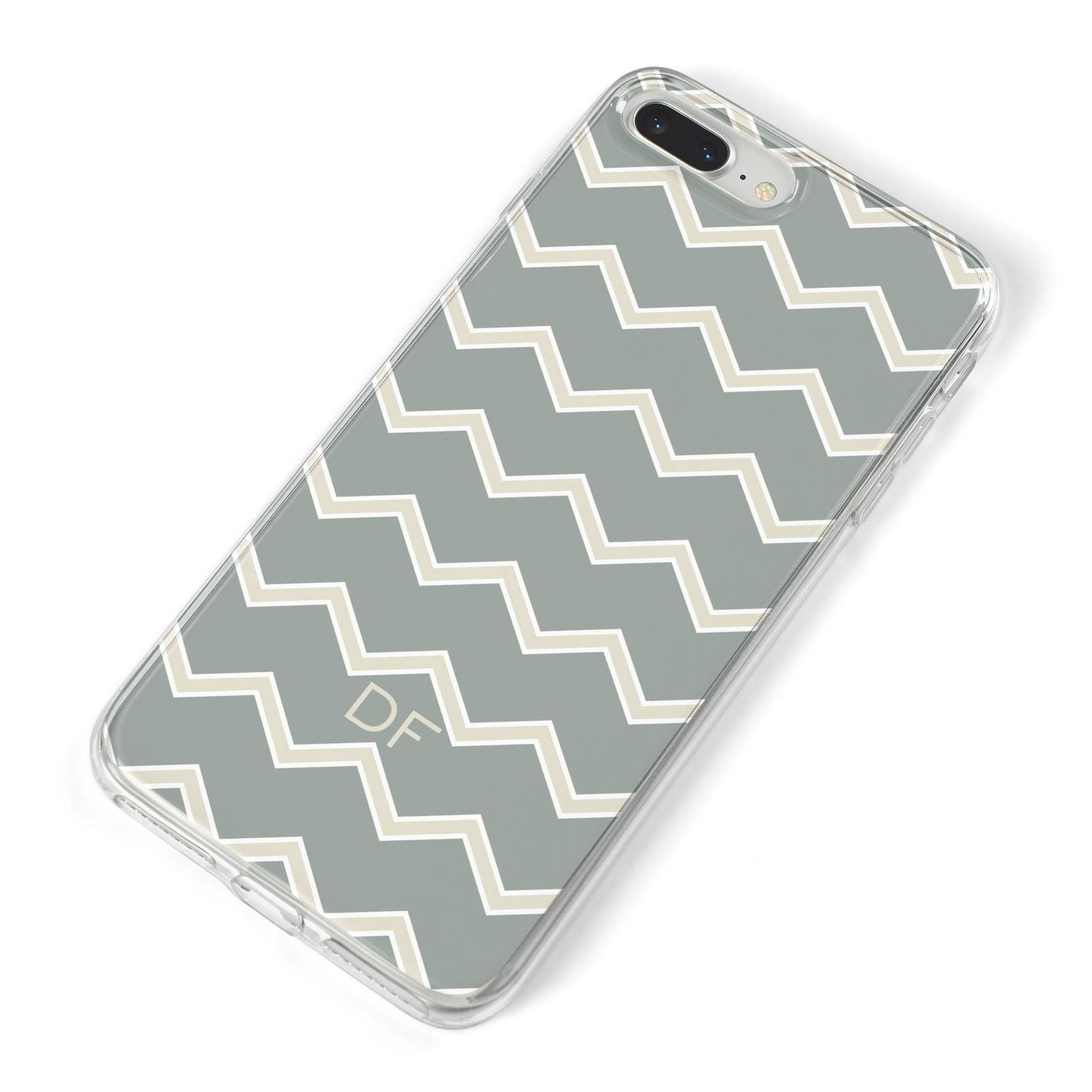 Personalised 2 Tone Chevron iPhone 8 Plus Bumper Case on Silver iPhone Alternative Image