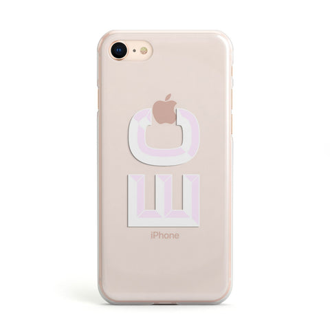 Personalised 3D Side Initials Clear Custom Apple iPhone Case