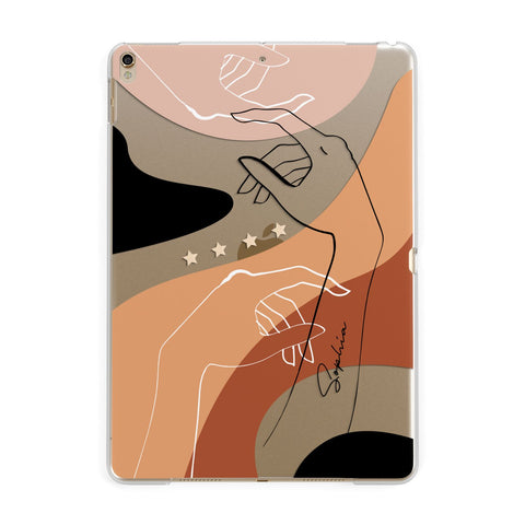 Personalised Abstract Gouache Line Art iPad Case