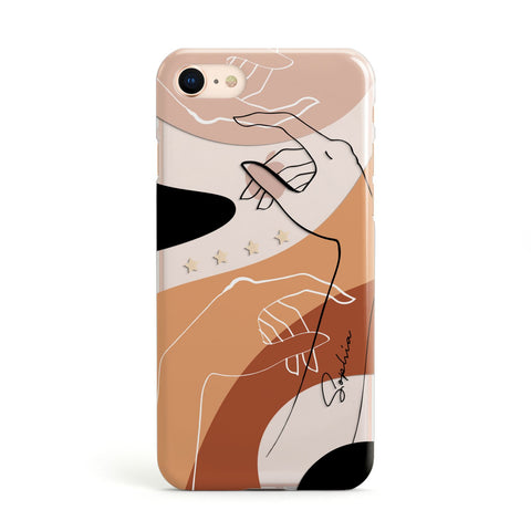 Personalised Abstract Gouache Line Art iPhone Case