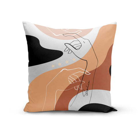 Personalised Abstract Gouache Line Art Cushion