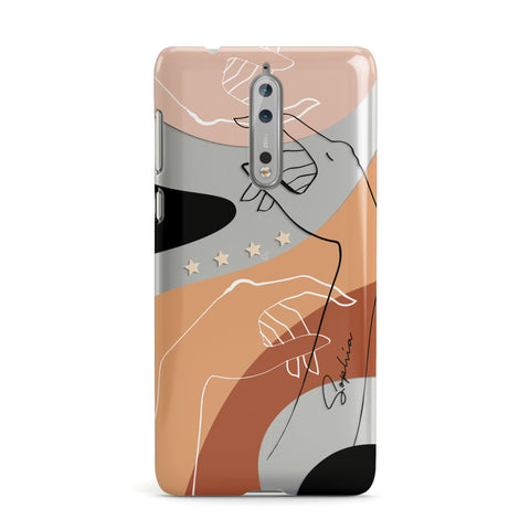 Personalised Abstract Gouache Line Art Nokia Case