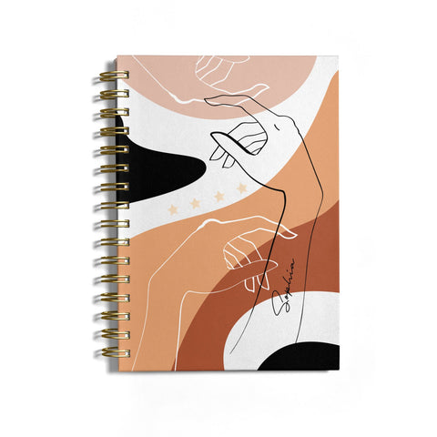 Personalised Abstract Gouache Line Art Notebook