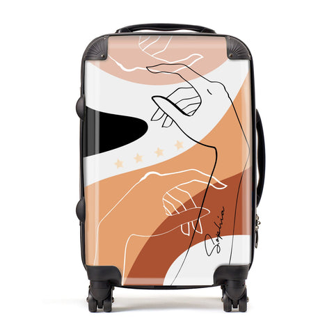 Personalised Abstract Gouache Line Art Suitcase