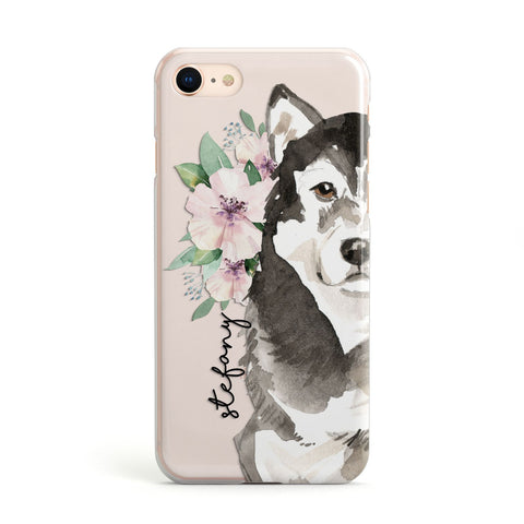 Personalised Alaskan Malamute iPhone Case