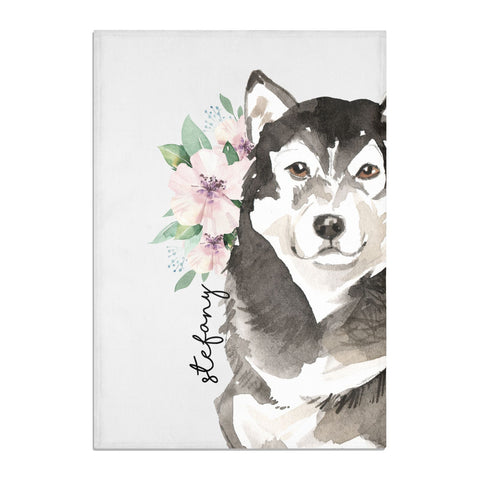 Personalised Alaskan Malamute Tea Towel