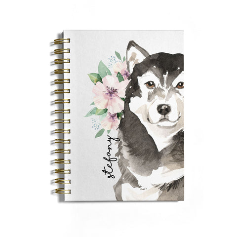 Personalised Alaskan Malamute Notebook