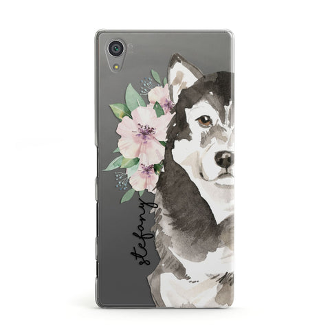 Personalised Alaskan Malamute Sony Case